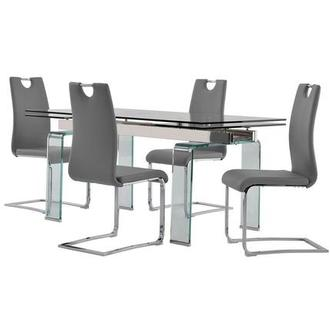 Millie/Josseline Gray 5-Piece Formal Dining Set