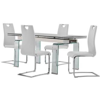 Millie/Josseline White 5-Piece Formal Dining Set