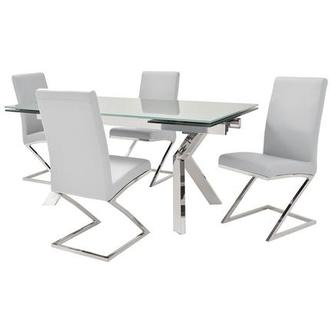 Ella Gray/Jade White 5-Piece Formal Dining Set