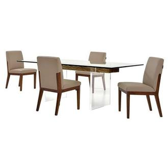 Miami Beach/Suria 5-Piece Formal Dining Set