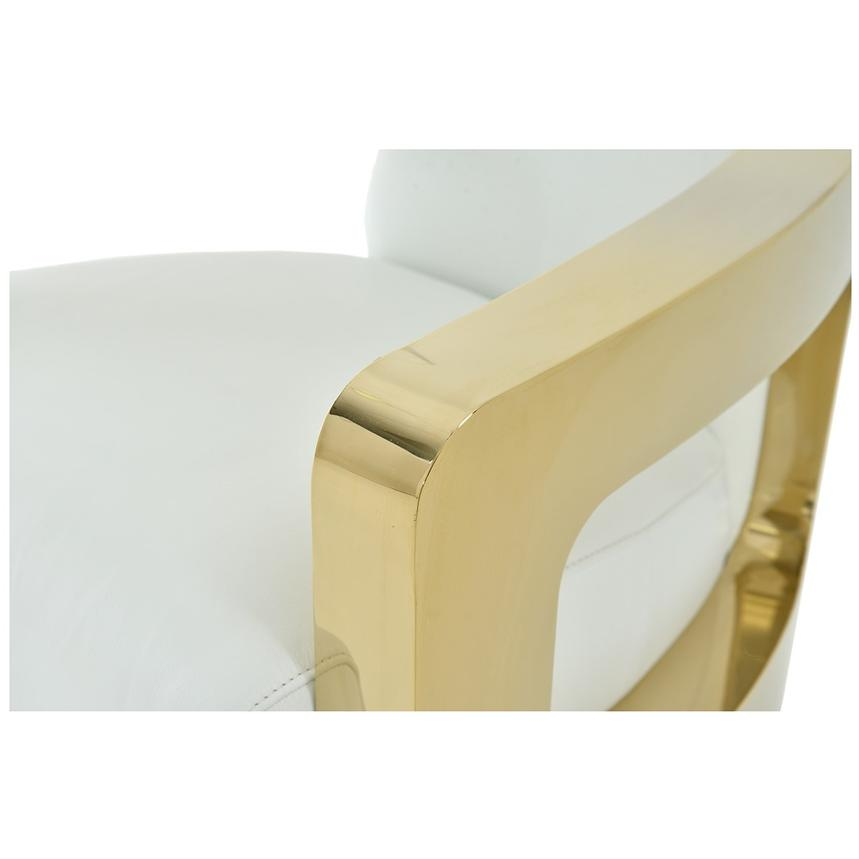 Aviator Gold Leather Accent Chair  alternate image, 5 of 7 images.