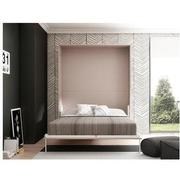Organizer Taupe Queen Murphy Bed Made in Spain  alternate image, 2 of 7 images.