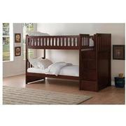 Balto Brown Twin Over Twin Bunk Bed w/Storage  alternate image, 2 of 7 images.