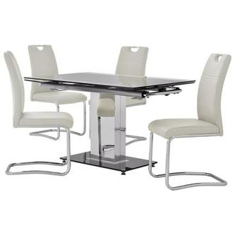 Antonia/Lila White 5-Piece Casual Dining Set