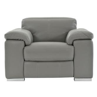 Charlie Gray Power Motion Leather Recliner
