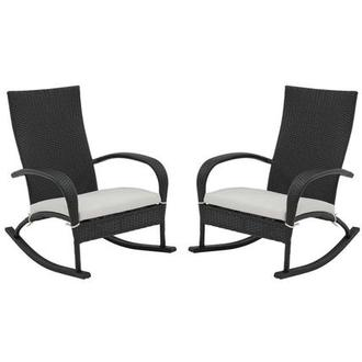 Neilina Black Rocking Chair Set of 2