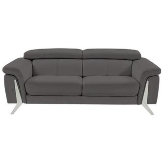 Odette Gray Leather Sofa