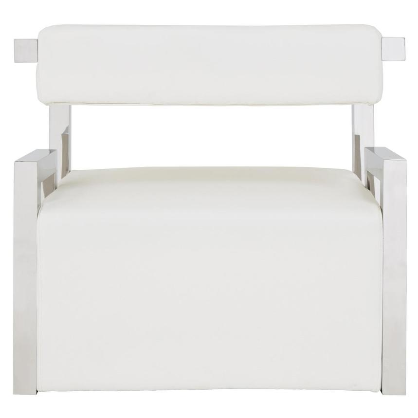 Versana White Accent Chair  alternate image, 4 of 5 images.