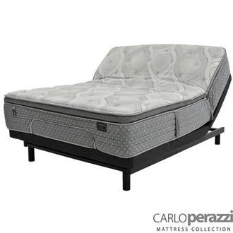 Caprice Full Mattress w/Essentials III Powered Base by Serta