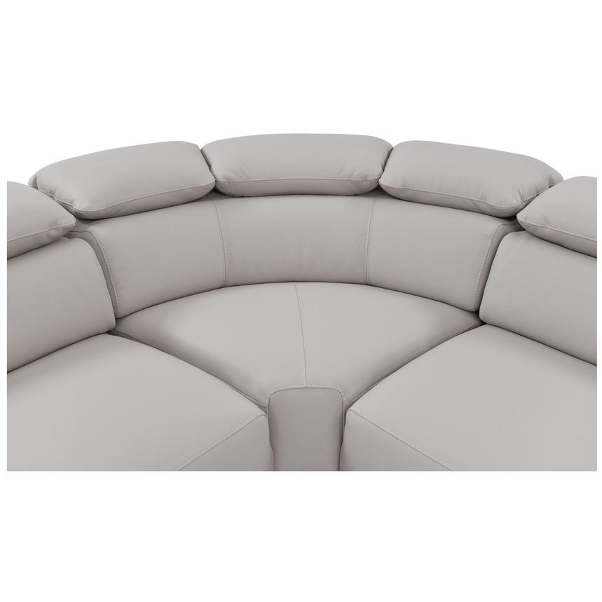 Tesla Gray Leather Sofa  alternate image, 5 of 6 images.