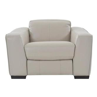 Jay Cream Power Motion Leather Recliner