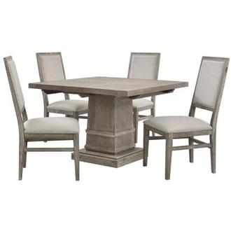 Hudson Gray/Dexter Gray 5-Piece Formal Dining Set
