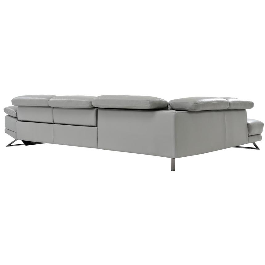 Toronto Light Gray Power Motion Leather Sofa w/Left Chaise  alternate image, 4 of 7 images.