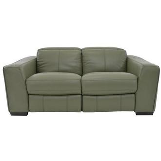 Jay Green Power Motion Leather Loveseat