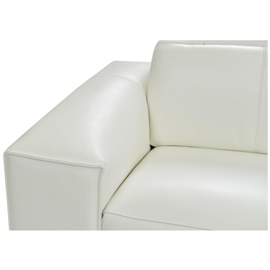 Michelle White Power Motion Leather Sofa w/Right Chaise  alternate image, 5 of 6 images.
