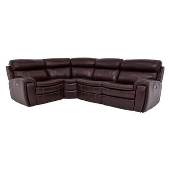 Napa Power Motion Leather Sofa w/Right & Left Recliners