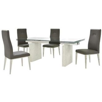 Industria/Hyde Gray 5-Piece Formal Dining Set