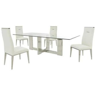 Opus/Hyde White 5-Piece Formal Dining Set