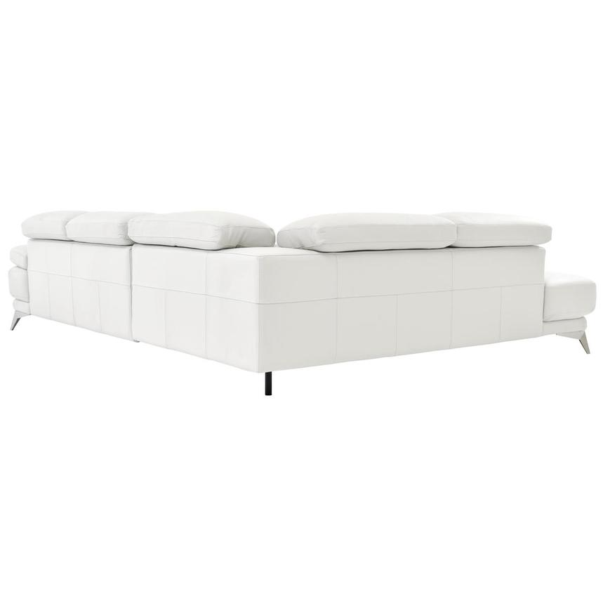 Winner White Leather Sofa w/Left Chaise  alternate image, 4 of 6 images.