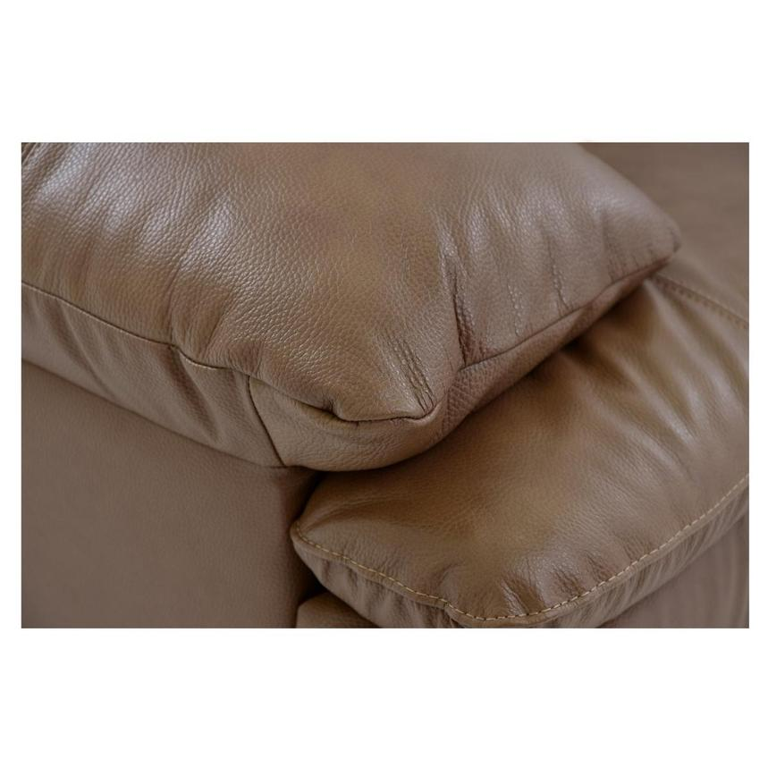 Rio Tan Leather Sofa w/Right Chaise  alternate image, 5 of 6 images.