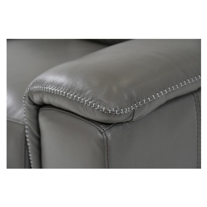 Davis 2.0 Gray Power Motion Leather Sofa w/Left Chaise  alternate image, 5 of 6 images.