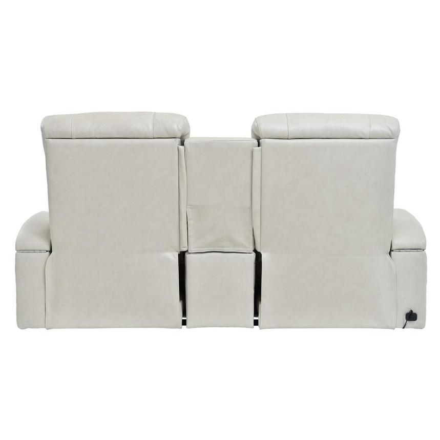 Gio Cream Power Motion Leather Sofa w/Console  alternate image, 5 of 10 images.