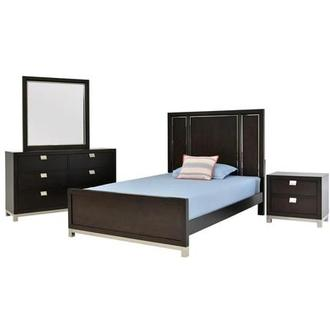 Metro Brown 4-Piece Twin Bedroom Set