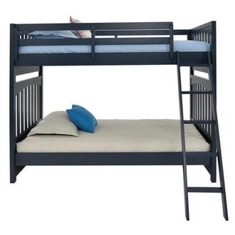 Chris Blue Twin Over Twin Bunk Bed