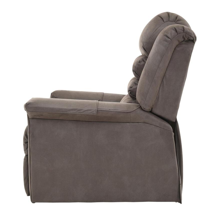 Soother Gray Power-Lift Leather Recliner  alternate image, 4 of 8 images.