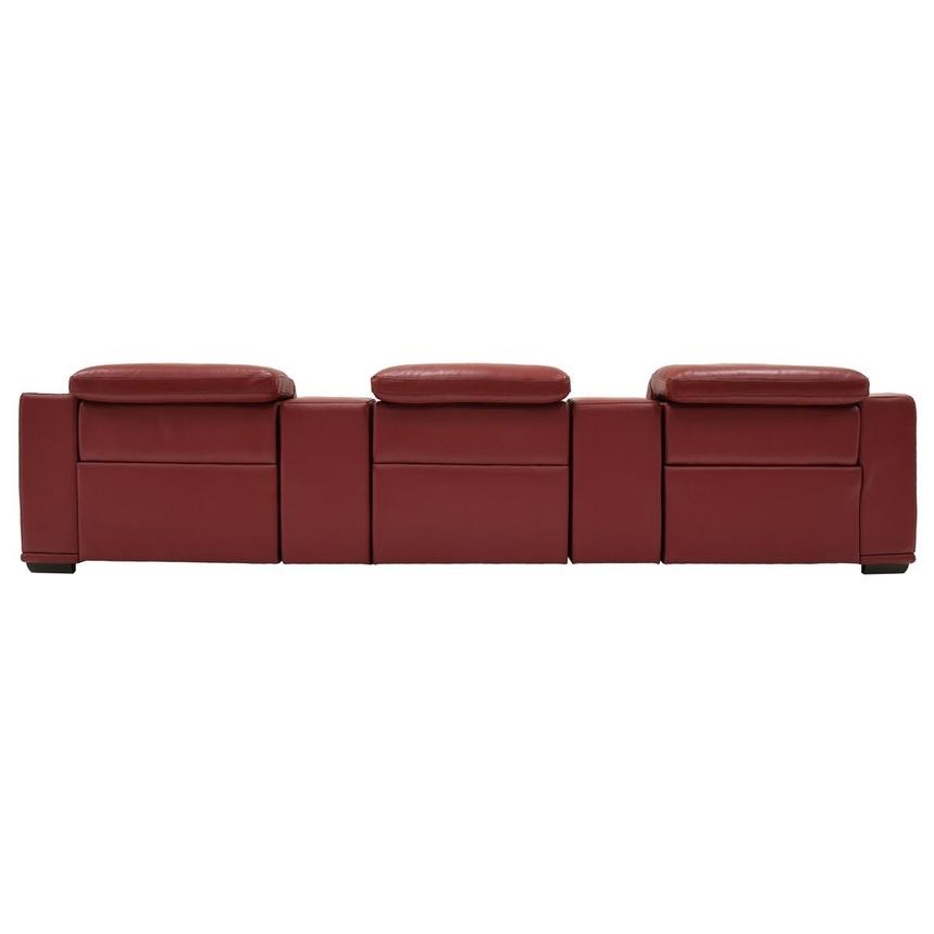 Davis 2.0 Red Home Theater Leather Seating  alternate image, 5 of 8 images.
