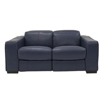Jay Blue Power Motion Leather Loveseat