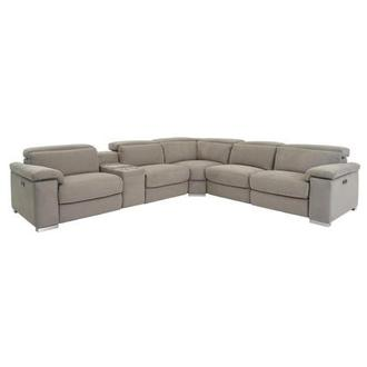 Karly Light Gray Power Motion Sofa w/Right & Left Recliners