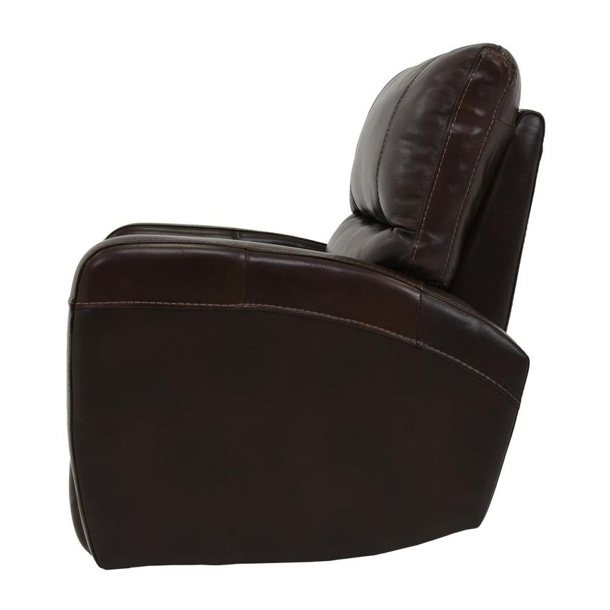 Keegan Chocolate Power Motion Leather Recliner  alternate image, 4 of 7 images.