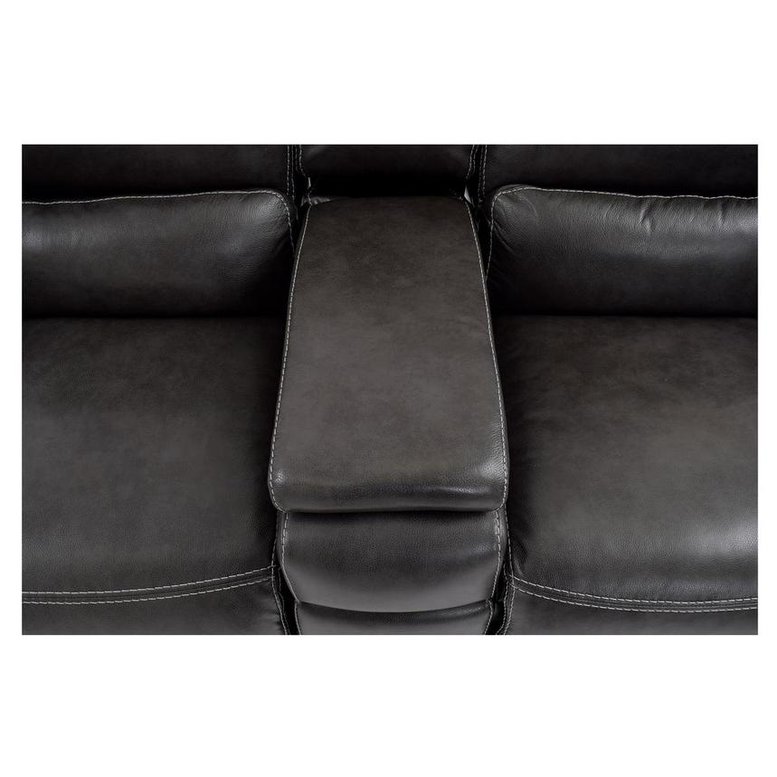 Cody Gray Power Motion Leather Loveseat w/Console  alternate image, 9 of 11 images.