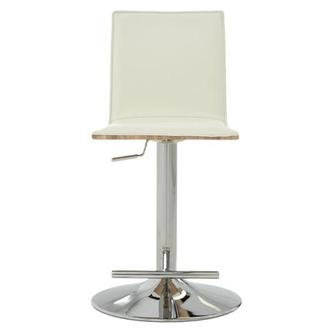 Solimar White Adjustable Stool