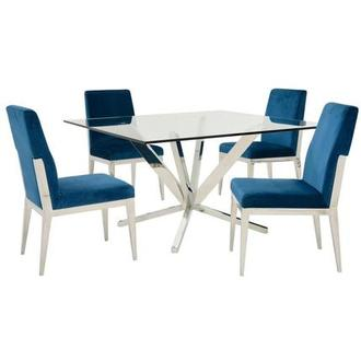 Ghettys/Met Blue 5-Piece Formal Dining Set