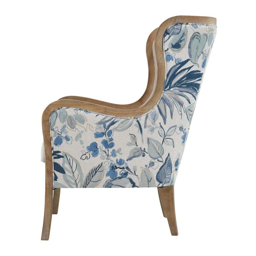 Scarlett Blue Accent Chair w/2 Pillows  alternate image, 5 of 12 images.