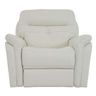 Zane Cream Power Motion Leather Recliner
