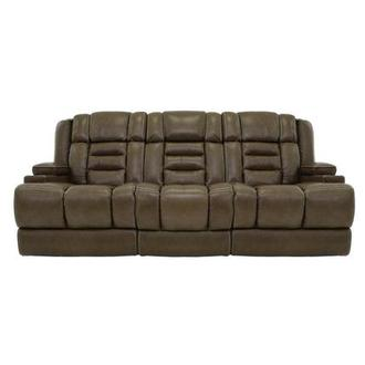 Damon Brown Power Motion Leather Sofa