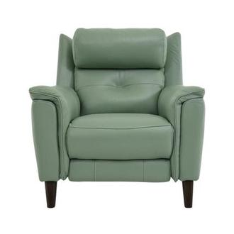 Mayte Green Power Motion Leather Recliner