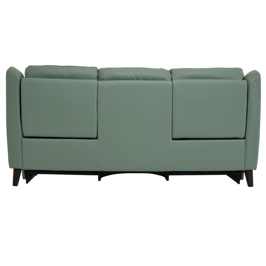 Mayte Green Power Motion Leather Sofa  alternate image, 5 of 10 images.