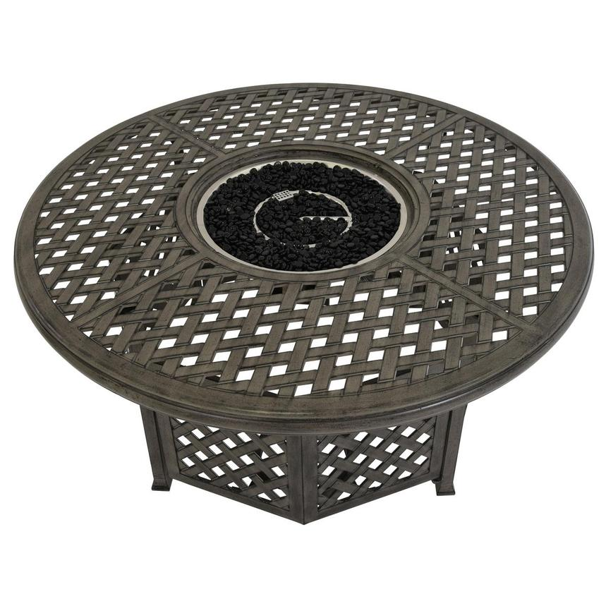 Castle Rock Gray Fire Pit Table  alternate image, 4 of 6 images.