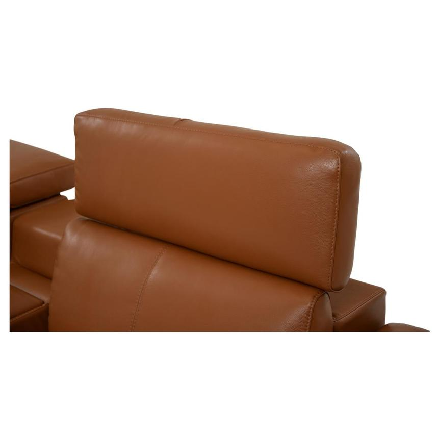 Charlie Tan Power Motion Leather Sofa w/Right & Left Recliners  alternate image, 5 of 9 images.