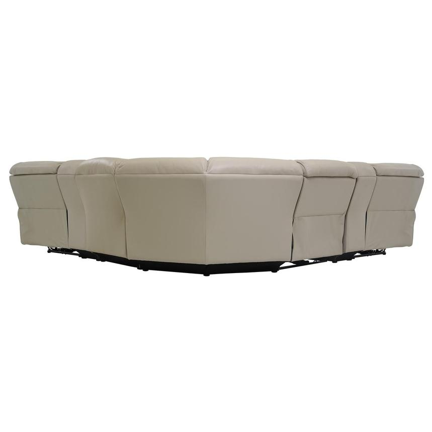 Cody Cream Power Motion Leather Sofa w/Right & Left Recliners  alternate image, 4 of 7 images.