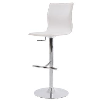 Evolution White Adjustable Stool