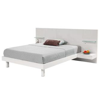 Chico White Full Platform Bed w/Nightstands