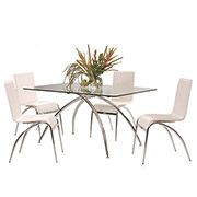 Elaine White 5-Piece Casual Dining Set  alternate image, 2 of 8 images.