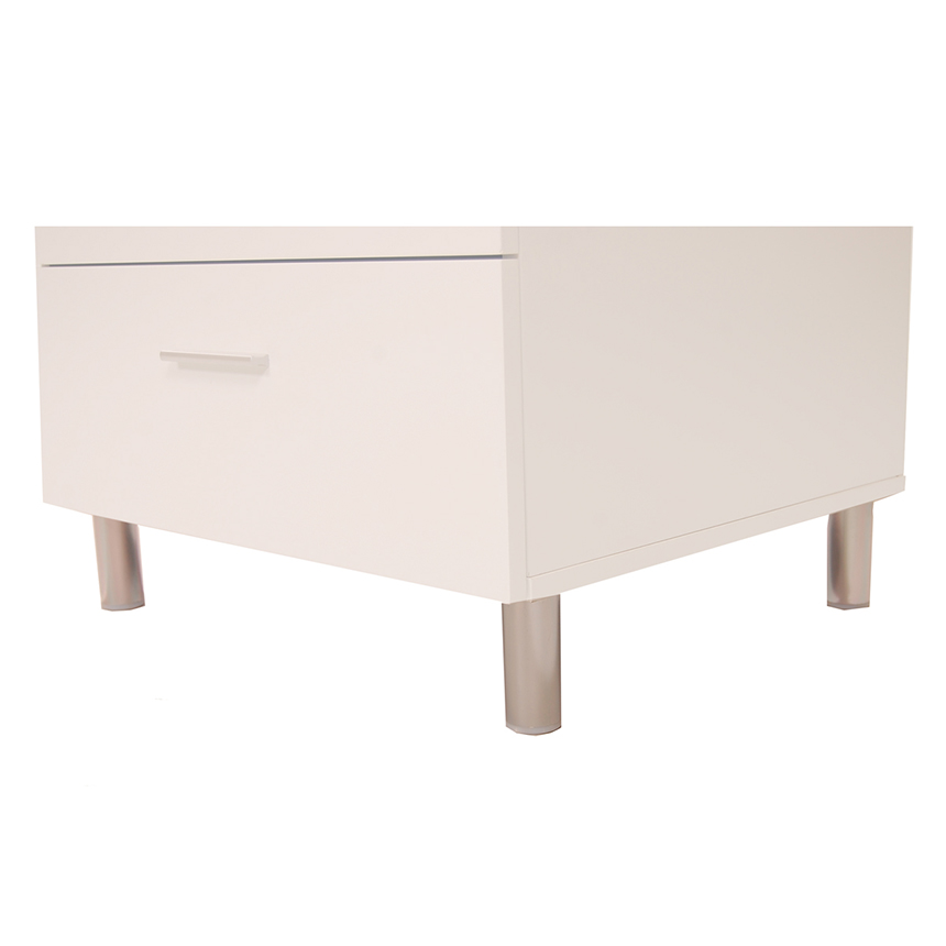 Bellmar White Nightstand  alternate image, 4 of 5 images.