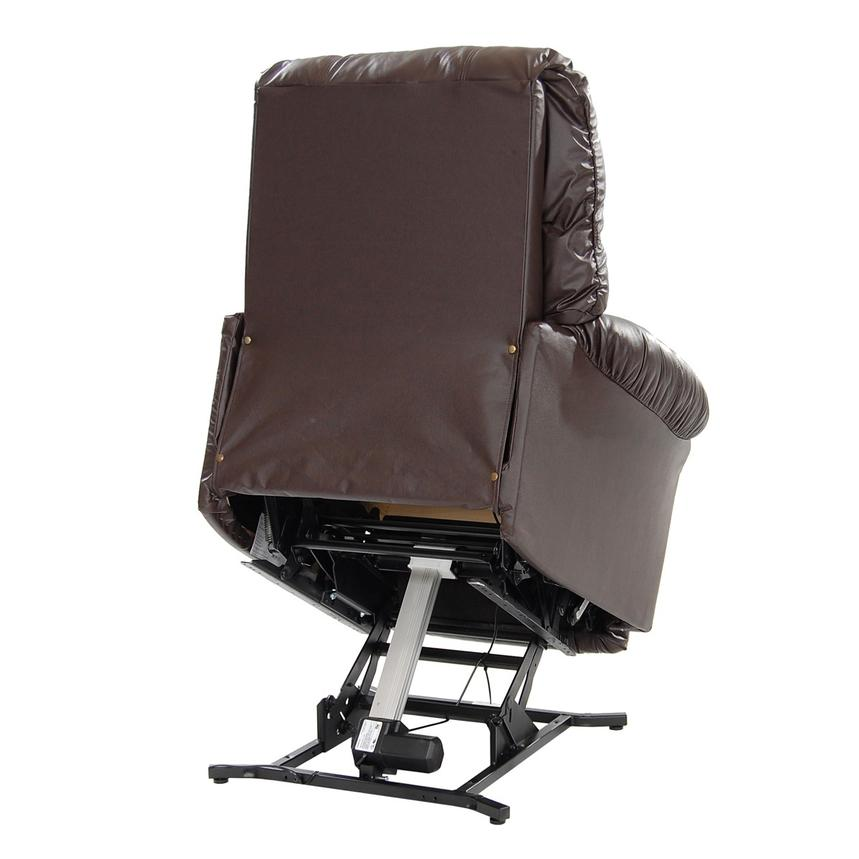 Wynette Brown Leather Power Lift Recliner  alternate image, 6 of 10 images.