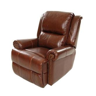 Mount Brown Leather Power Recliner